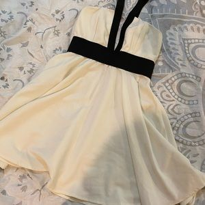 Nasty gal White and black strapped dress